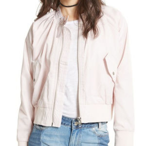Free People Midnight Bomber Jacket Pink Size Small